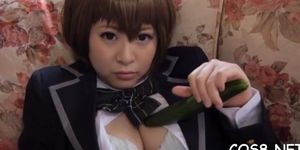 Naughty barely legal honey iku natsumis quim is nailed well