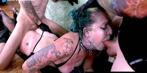 Rough Facefucking For Goth Piss Hoe