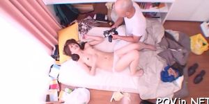 Astonishing asian cutie gets fucked in various poses