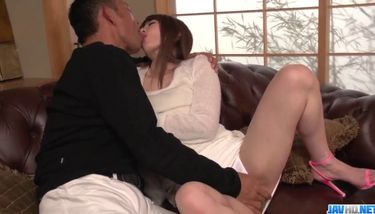 Top Japanese porn on the couch with Miku Ohashi More at javhd net ...
