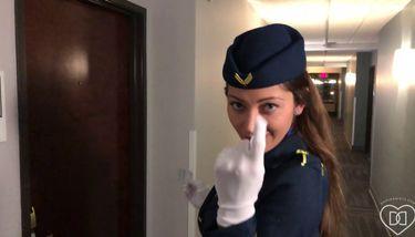 Naughty stewardess and my first pilot (Dani Daniels) TNAFlix Porn ...