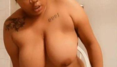 Big Ass Ebony Rides Huge Dildo until she Cums rough TNAFlix Porn ...