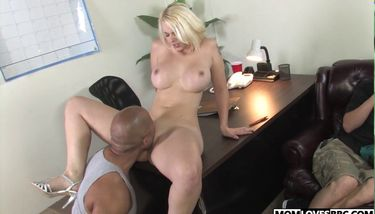 MOMLOVESBBC - Son watching busty mom Mandy Sweet taking a BBC ...