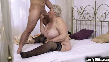 Busty granny Astrid welcomes grandson with a hot sex TNAFlix Porn ...