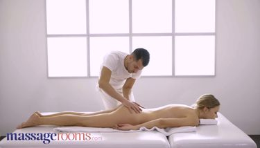 Massage Rooms Beautiful blonde Polina Max romantic oral and hot ...