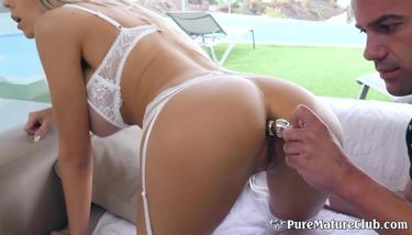 Busty milf lingerie Beautiful Busty Milf In Sexy Lingerie Takes An Ass Pounding Tnaflix Porn Videos
