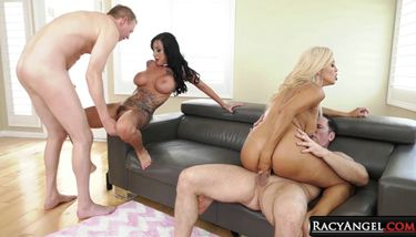 EVILANGEL - Francesca Le and Mark Wood Anal Fussing Other Couples ...