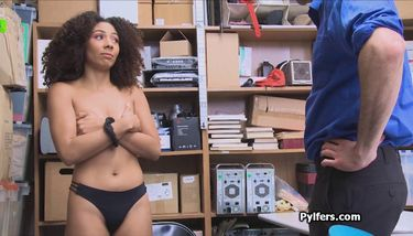 Ebony cutie with curly hair fucked hard in the back office TNAFlix ...