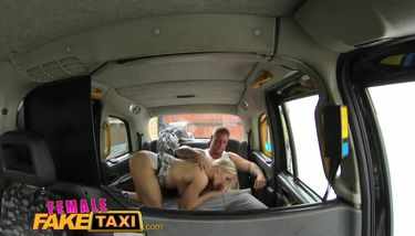 Porn fake taxi driver