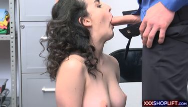Cute shoplifter with curly hair gets a rough quickie TNAFlix Porn ...