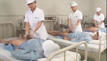 Sweet asian nurses giving handjob in group for cum sample TNAFlix ...