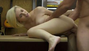 Doggysytle Fucking Blonde Beauty Stevie Six On Pawn Shop Desk ...